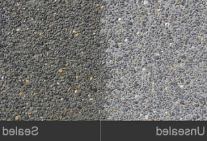 Aggregate Sealing - Before and After